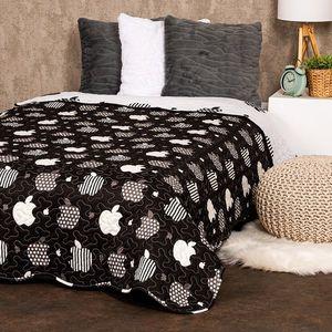 4Home Narzuta na łóżko Black fruit, 140 x 220 cm obraz