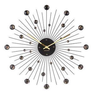 Karlsson 4859BK Designowy zegar ścienny, 50 cm obraz