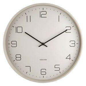 Karlsson 5751WG stylowy zegar ścienny, śr. 40 cm obraz
