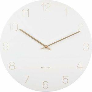 Karlsson 5762WH stylowy zegar ścienny, śr. 40 cm obraz