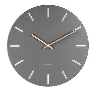 Karlsson 5821GY Stylowy zegar ścienny śr. 30 cm obraz