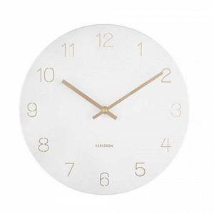Karlsson 5788WH stylowy zegar ścienny, śr. 30 cm obraz