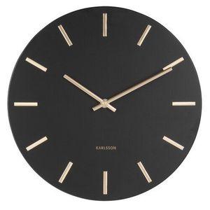 Karlsson 5821BK Stylowy zegar ścienny śr. 30 cm obraz