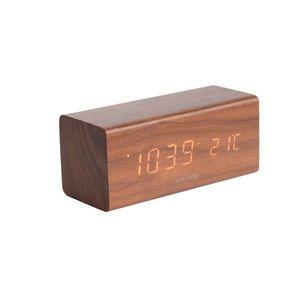 Karlsson 5652DW Stylowy zegar stołowy LED z budzikiem, 16 x 7 cm obraz