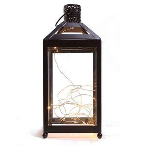 Latarnia do wnętrza z diodami LED, 13, 5 x 13, 5 x 31, 8 cm obraz