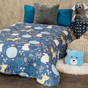 4Home Narzuta dziecięca na łóżko Nordic Woodland, 140 x 200 cm obraz