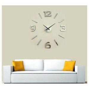 StarDeco Zegar ścienny brąz, śr. 60 cm obraz