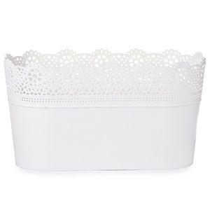 Prosperplast Doniczka ażurowa Lace, biały obraz