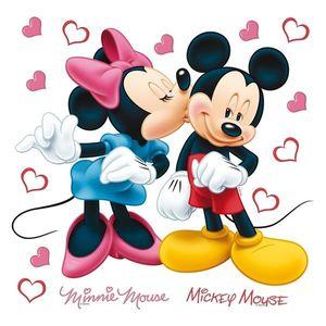 Naklejka Minnie i Mickey, 30 x 30 cm obraz