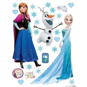 Naklejka dekoracyjna Elsa i Anna, 30 x 30 cm obraz
