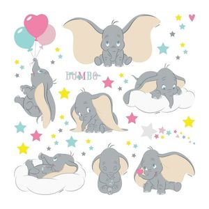 Naklejka Dumbo, 30 x 30 cm obraz