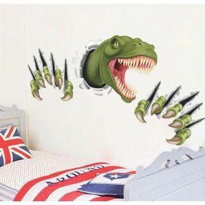 Naklejka 3D Dinozaur, zielony obraz