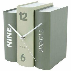 Karlsson 5756GR stylowy zegar stołowy, 20 x 15 x 20 cm obraz