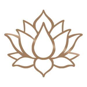 Dekoracja ścienna w kolorze złota Tanelorn Lotus obraz