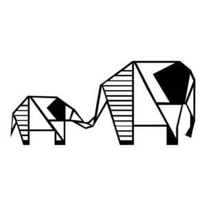Czarna dekoracja ścienna Tanelorn Elephant obraz