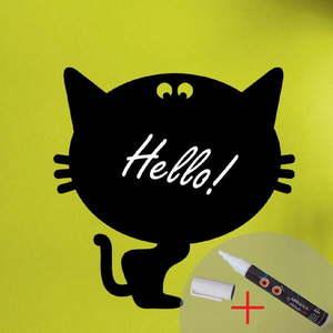 Tablica samoprzylepna z kredowym flamastrem Fanastick Cat obraz