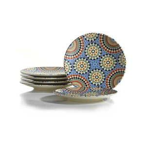 Zestaw 6 talerzy deserowych Kütahya Porselen Geometric, ø 20 cm obraz